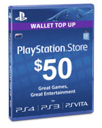 PlayStation Network Card - $50