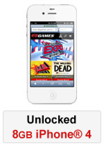 iPhone® 4 8GB Unlocked - White (Refurbished by EB Games)