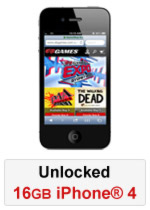 iPhone® 4 16GB Unlocked - Black (Refurbished by EB Games)