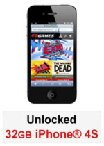iPhone® 4S 32GB Unlocked - Black (Refurbished by EB Games)