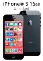 iPhone® 5 16GB Unlocked - Black (Refurbished by EB Games)