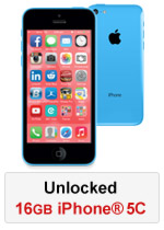 iPhone® 5C 16GB Unlocked - Blue (Refurbished by EB Games)