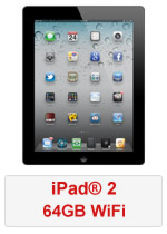 iPad® 2 64GB WiFi - Black (Refurbished by EB Games)