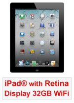 iPad® with Retina Display 32GB WiFi - Black (Refurbished by EB Games)