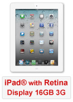 iPad® with Retina Display 16GB WiFi & 3G - White (Refurbished by EB Games)