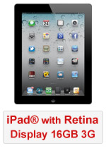 iPad® with Retina Display 16GB WiFi & 3G - Black (Refurbished by EB Games)